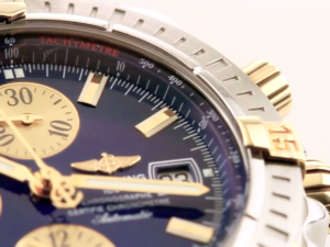 Tachymeter scale on a Breitling Chronomat Evolution