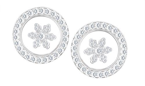 Chopard Happy Sport Snowflake earrings in 18k White Gold