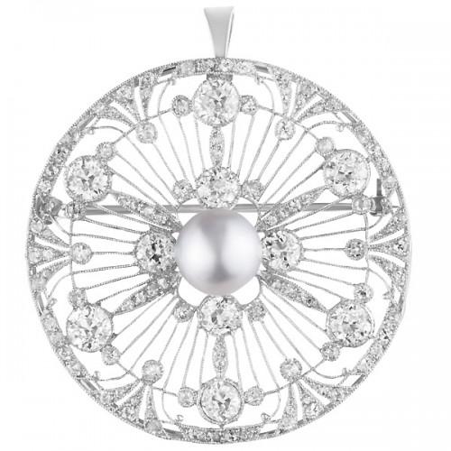 Platinum Diamond Spray pin/pendant