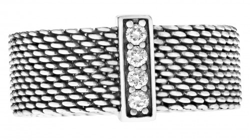 Tiffany & Co Somerset Sterling Silver and Diamond ring