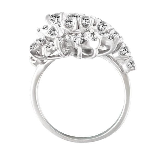Cocktail-Diamond-Ring-In-14k-White-Gold