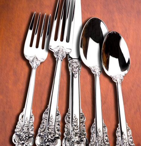 Wallace Grande Baroque sterling silver set