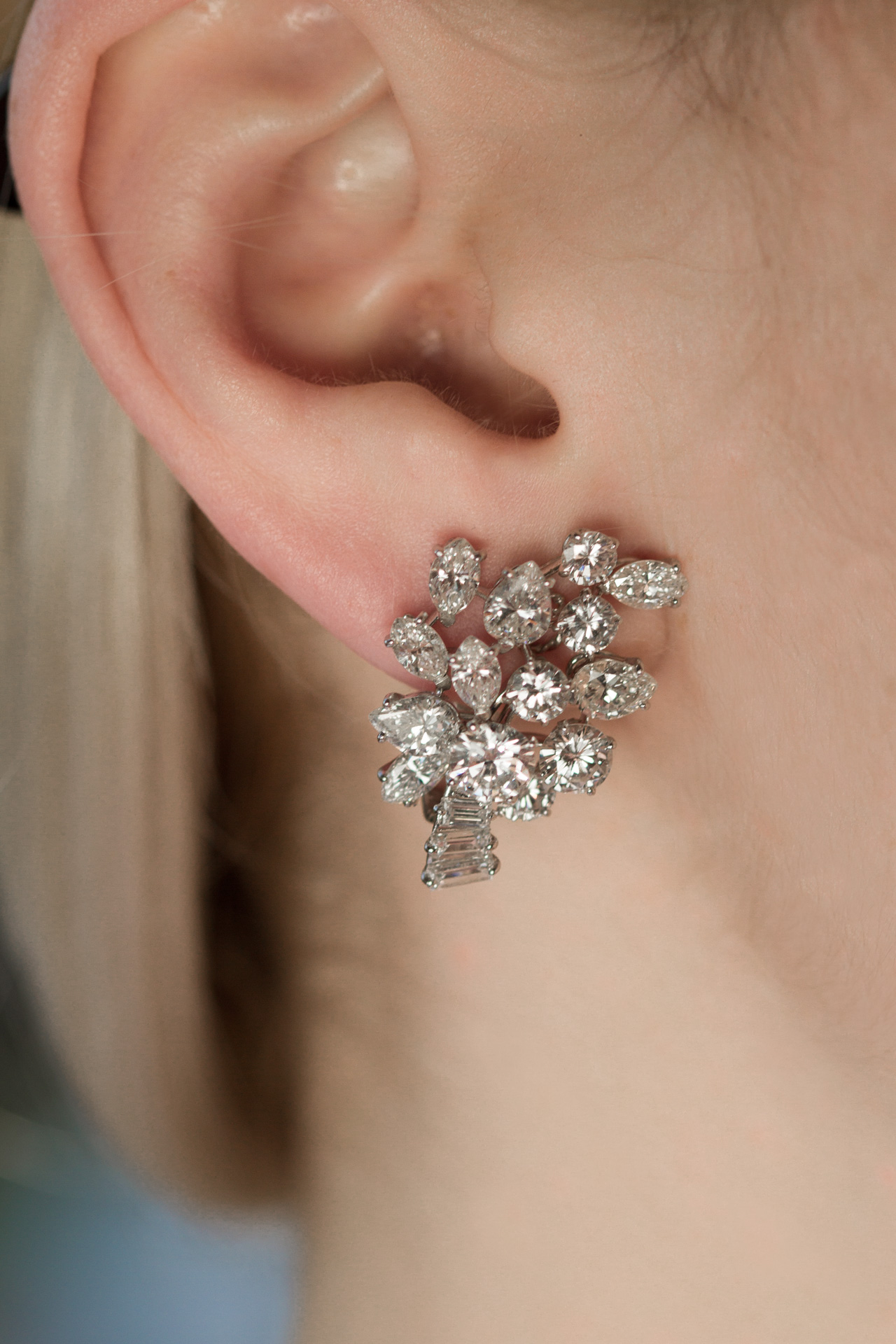 A Cut Above The Rest Graff London Diamond Earrings Gray
