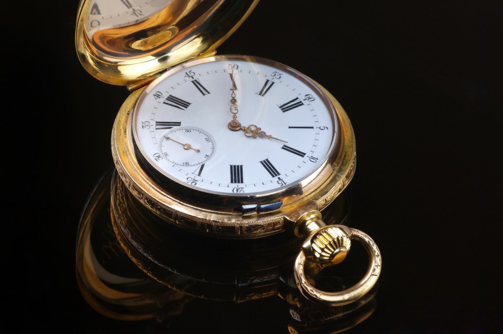Traditional vintage pocket watch