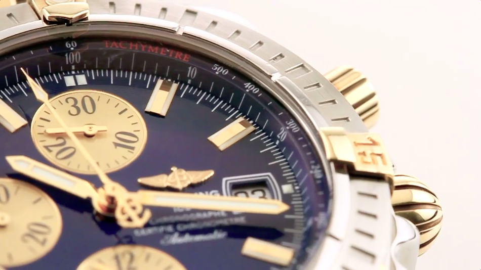 Tachymeter scale on a Breitling Chronomat Evolution