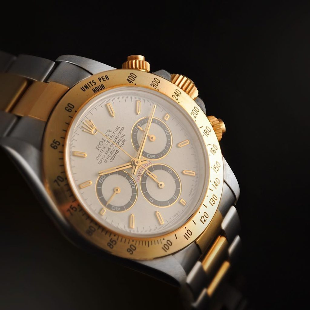 Up close with a Rolex Daytona watch