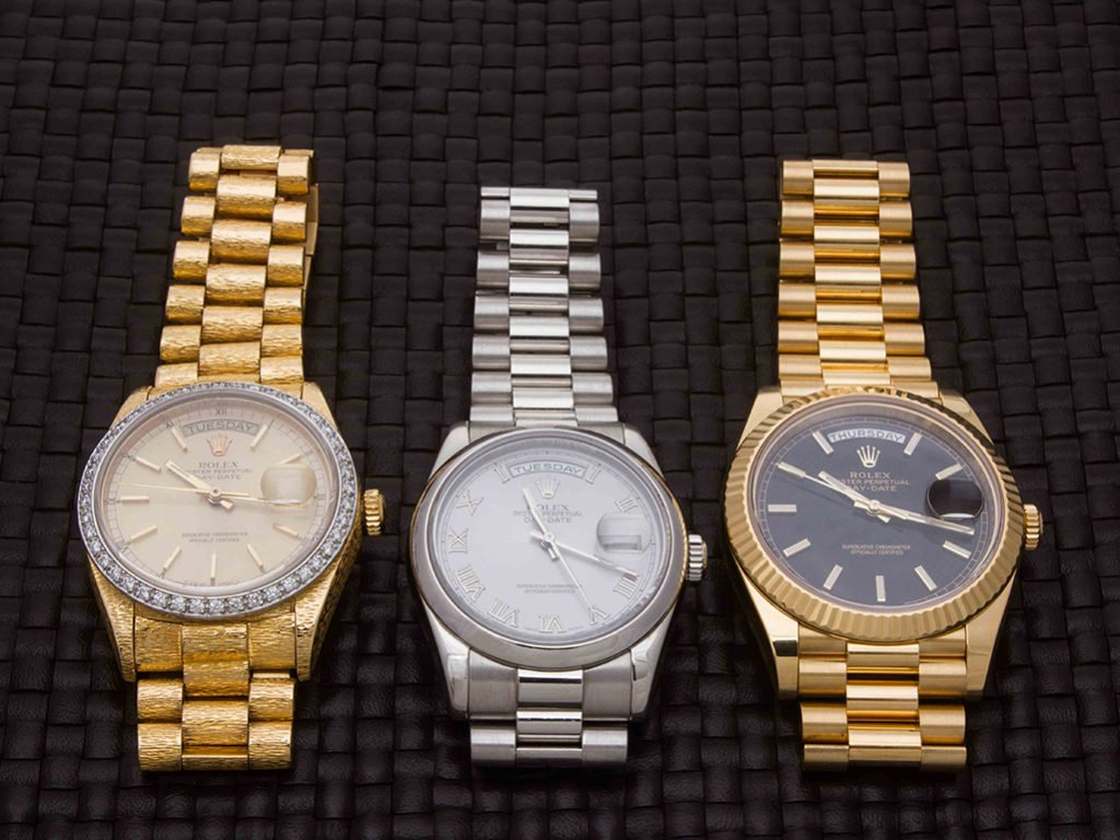 Selection of our Rolex President Watches