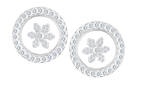 Chopard Happy Sport Snowflake earrings in 18k White Gold