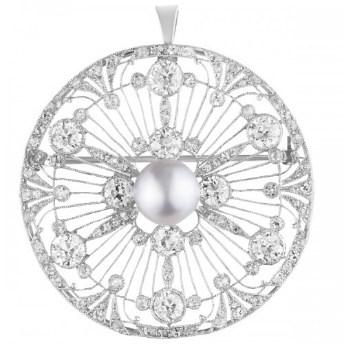 Platinum Diamond Spray pin/pendant