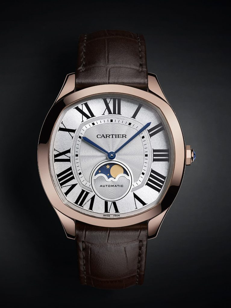 Drive de Cartier Moon Phases in Pink Gold. (Images courtesy of Cartier)