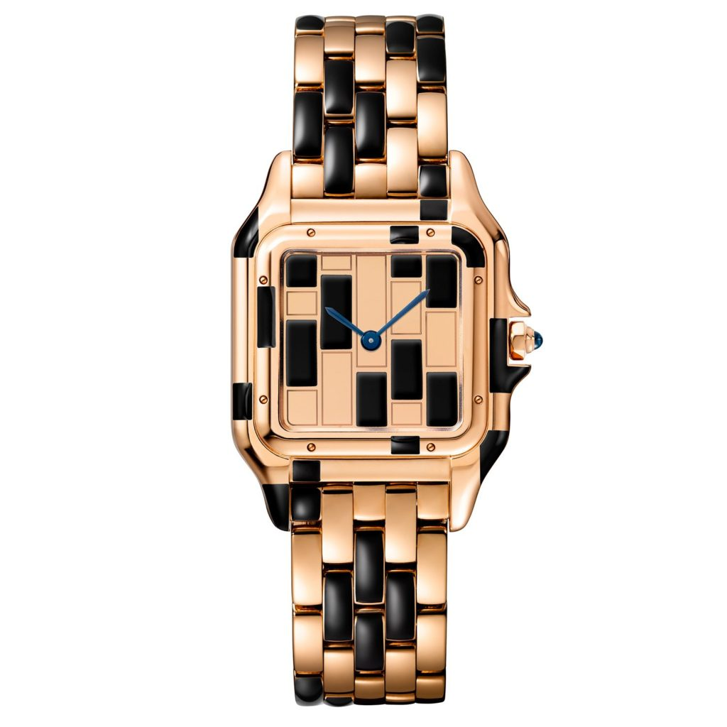 Panthere de Cartier Rose Gold Black Laquer Medium
