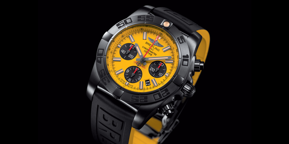 Breitling Chronomat 44 Blacksteel Special Edition. (Image courtesy of Breitling)