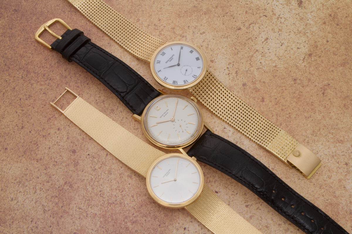 A handful of vintage patek philippe models gray sons for Patek phillipe watch