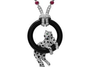Cartier Jewelry Platinum Panthère Pendant