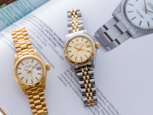 Ladies' Rolex Oyster Perpetual Date watches