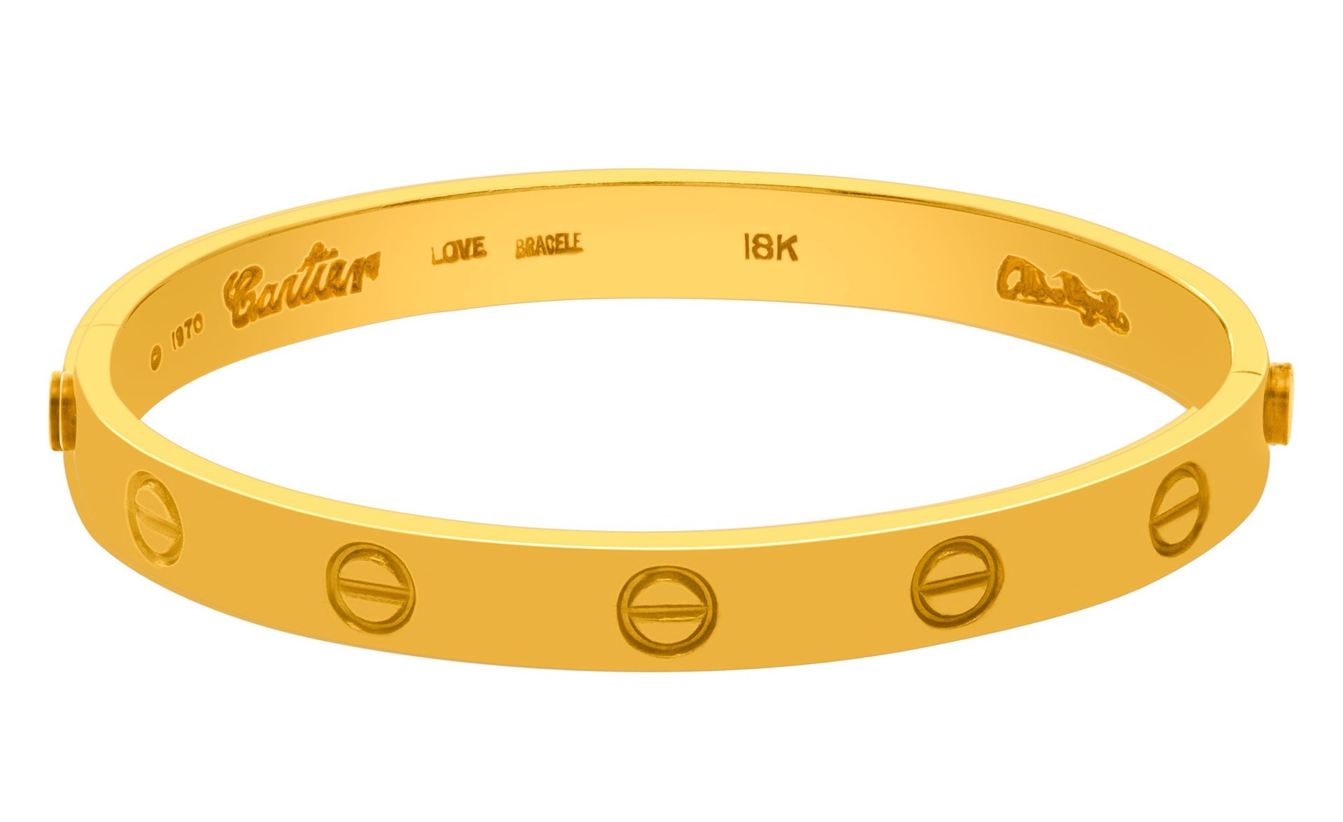 Original Cartier Love Bracelet Signed 1970