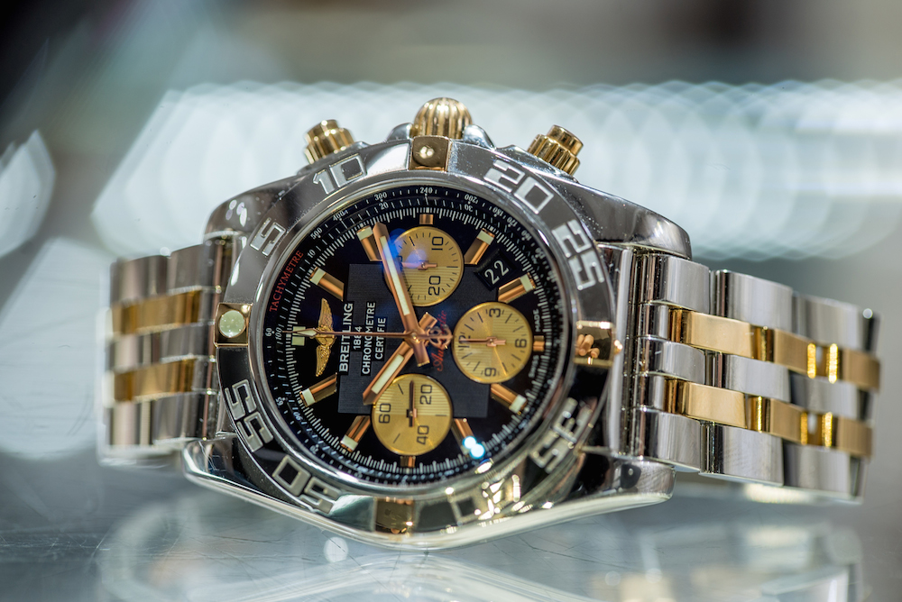 Breitling Chronomat Luxury Two-Tone Chronograph Watch