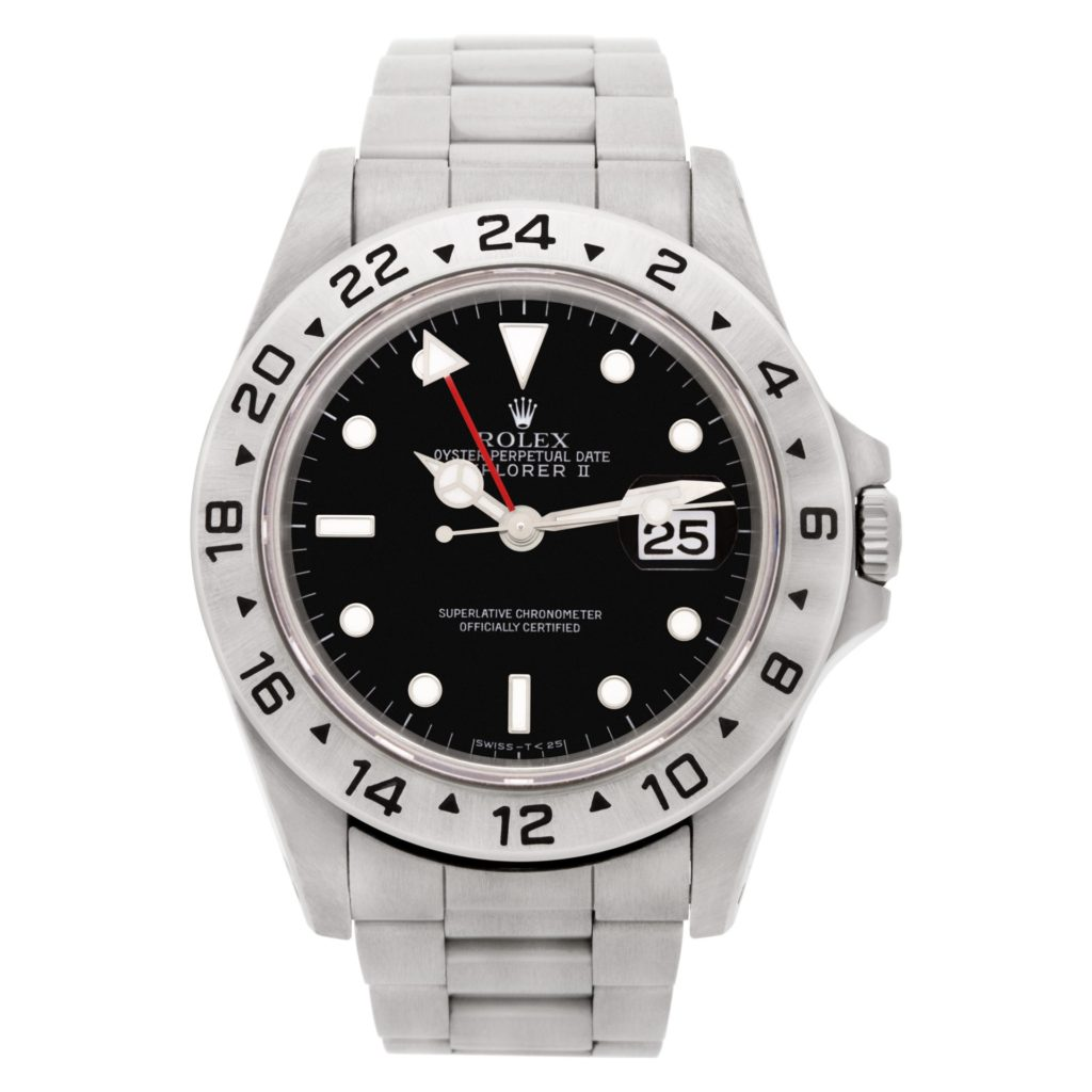 Black dial version of the Rolex Explorer II ref. 16570