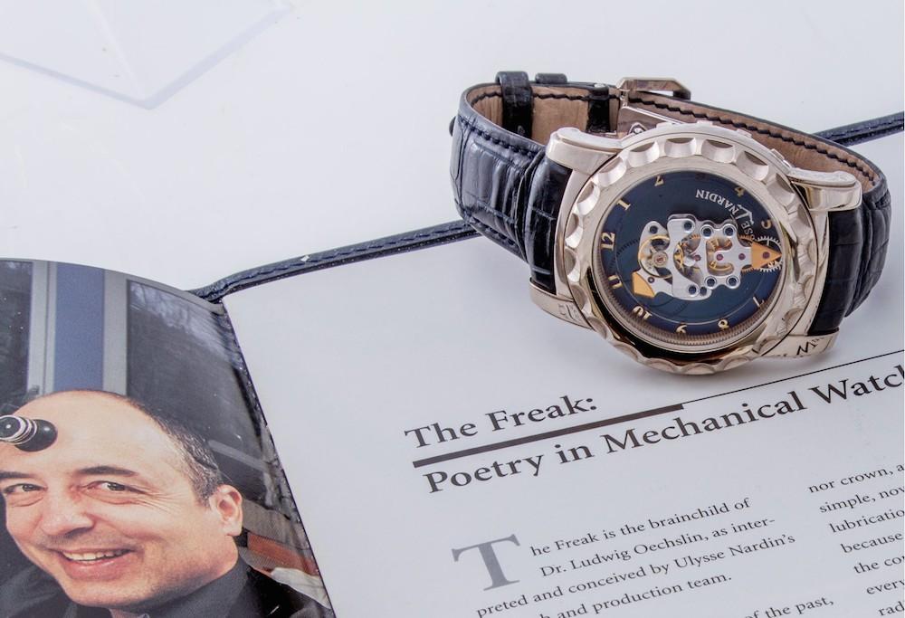 Ulysse Nardin Watches: Freak with 18k white gold