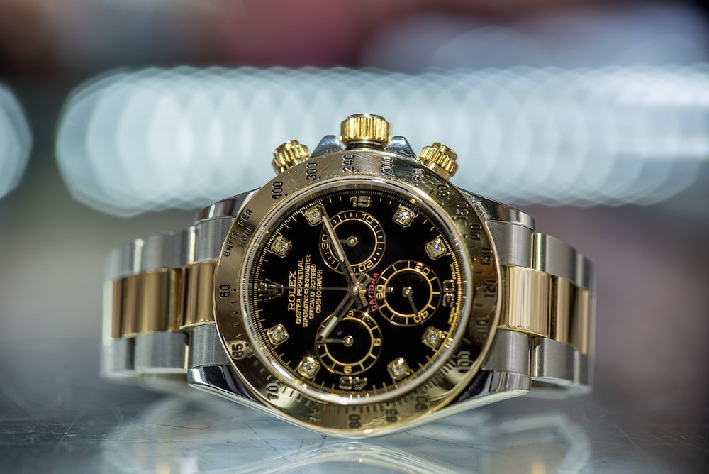 Rolex Daytona ref. 116523 two-tone luxury chronograph