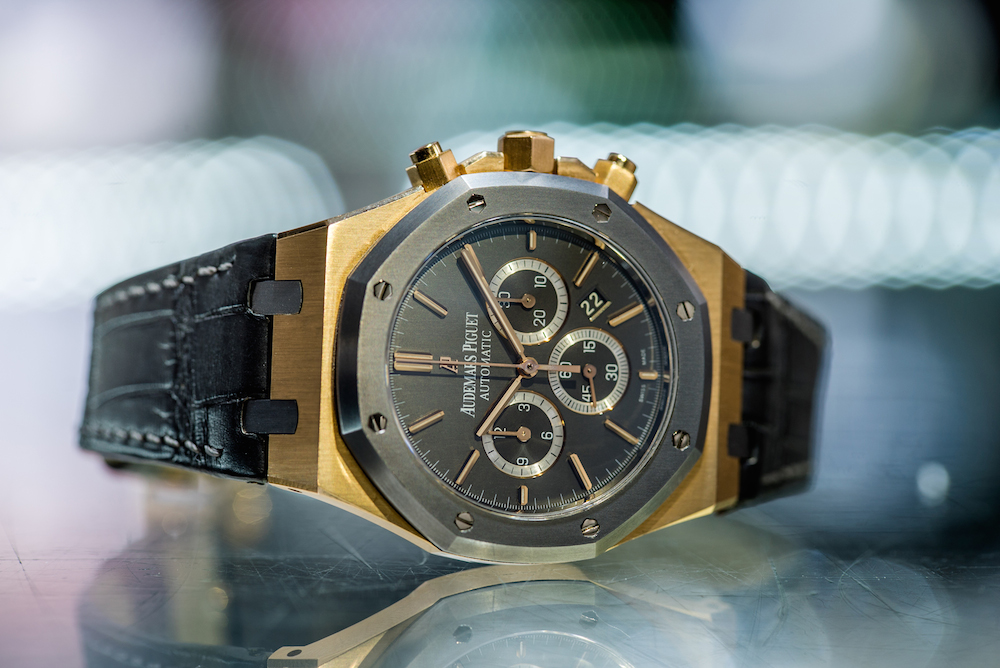 Luxury Two-Tone Chronograph Audemars Piguet Royal Oak Leo Messi