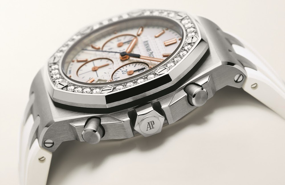 Women's Audemars Piguet Royal Oak Offshore Le Byblos in stainless steel with diamonds