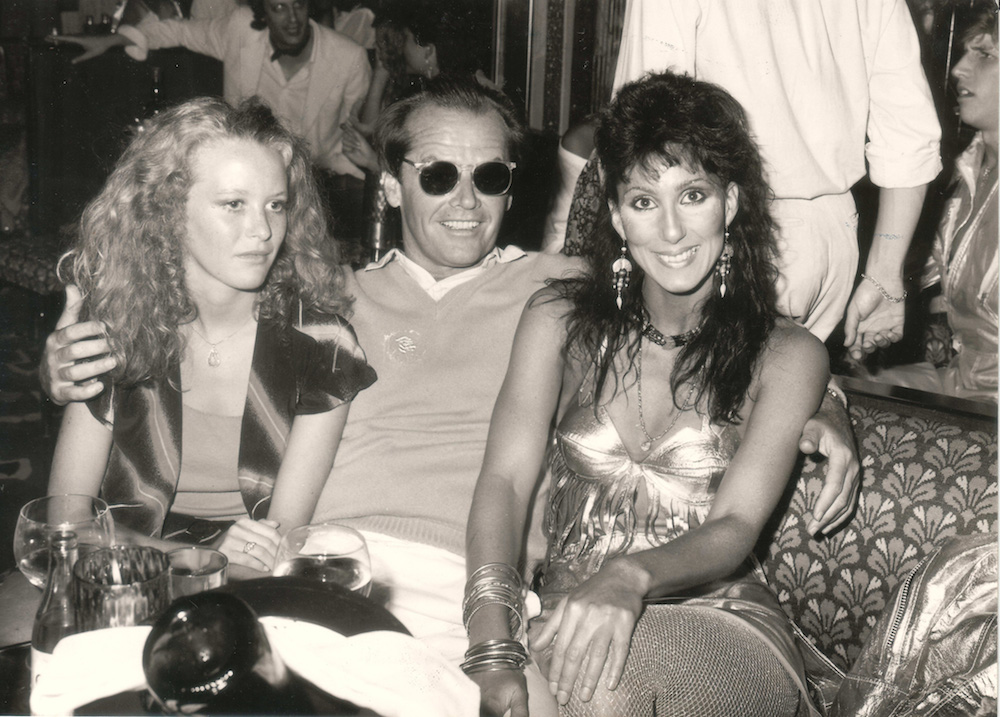 Jack Nicholson and Cher at the Caves du Roy St. Tropez in 1983