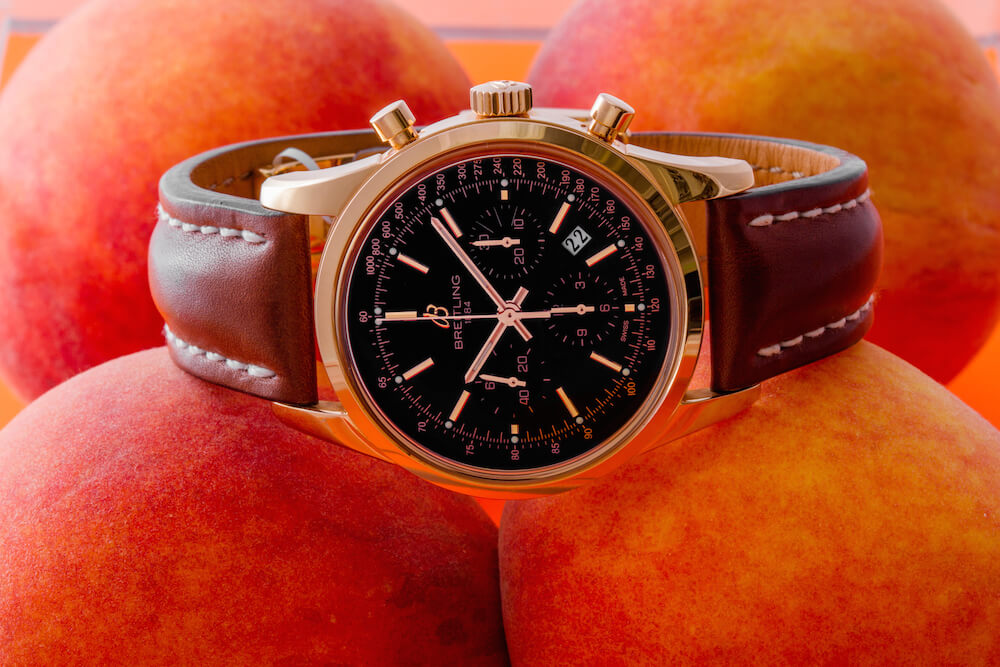 Breitling Transocean Chronograph Rose Gold Watch