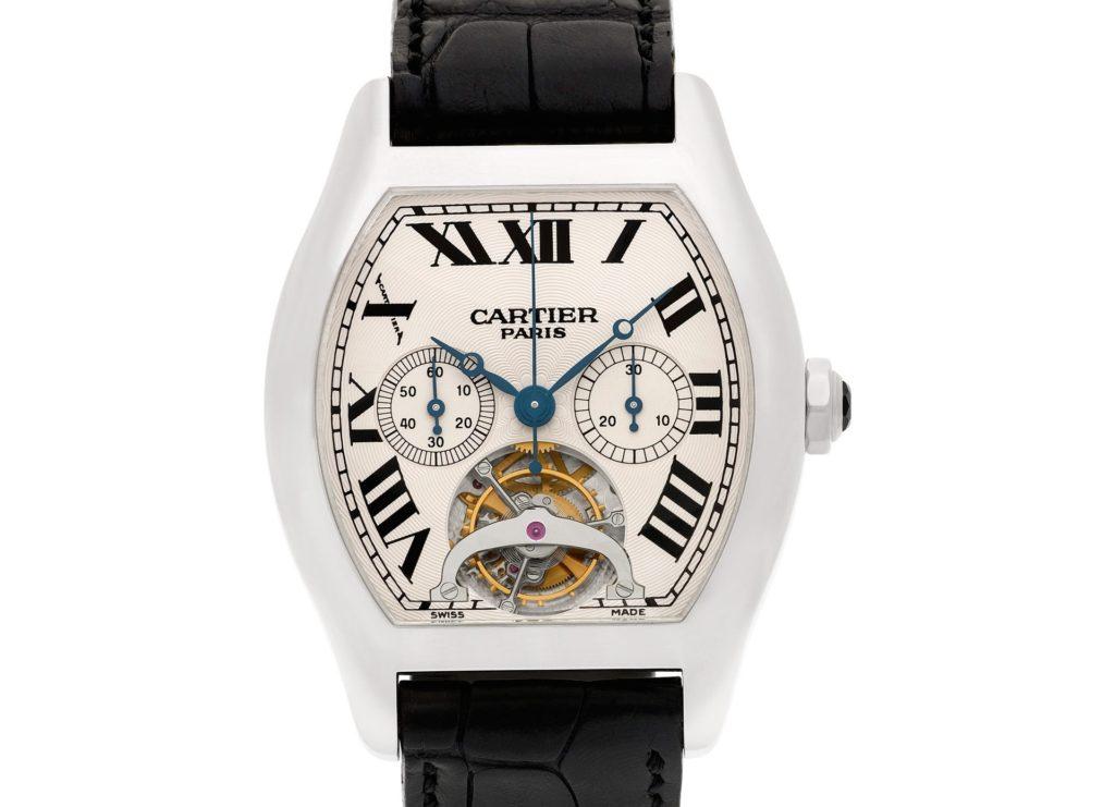 Cartier Tortue Platinum Watch