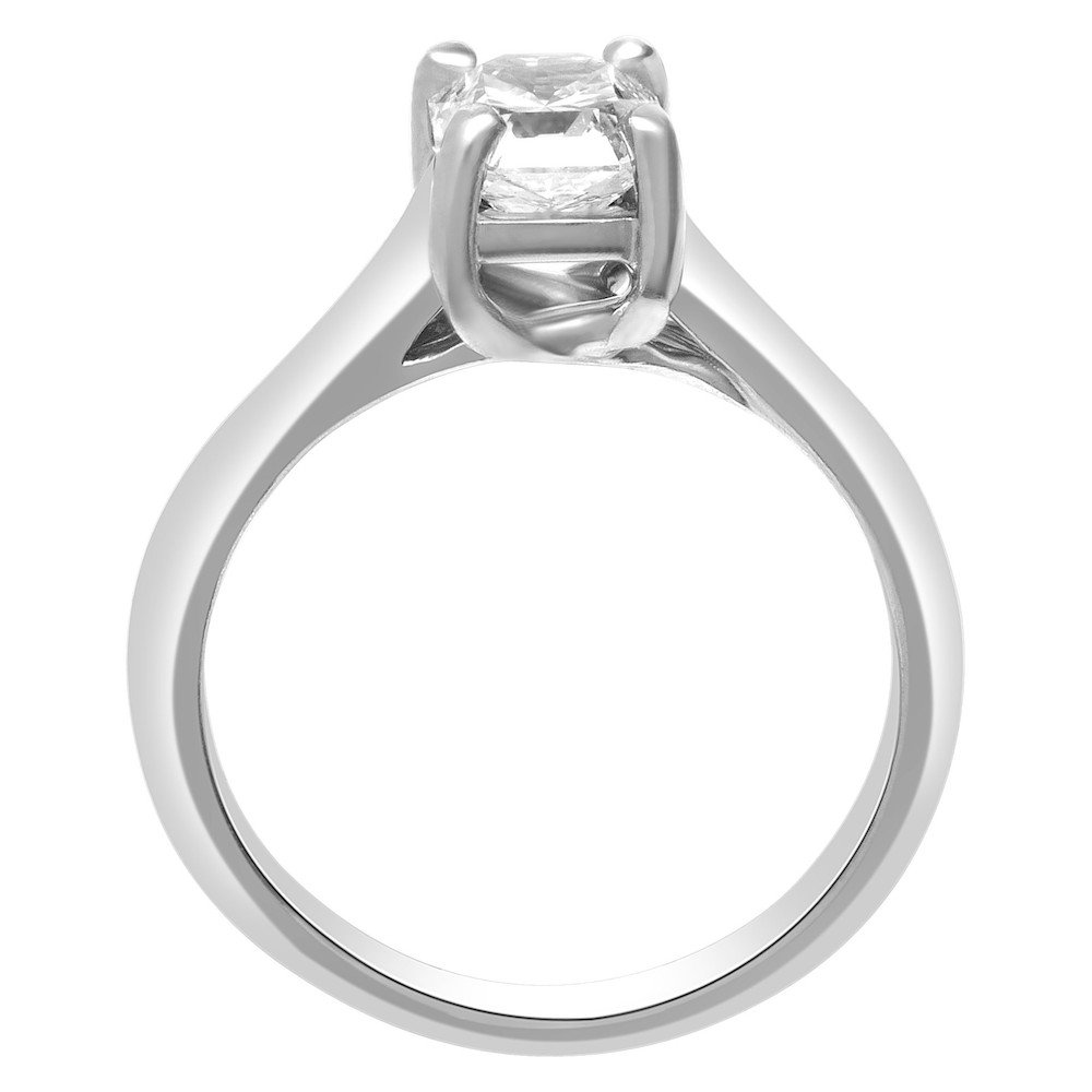 cushion lucida diamonds cut classic ring diamond wedding solid synthetic solitaire silver sterling white item gold