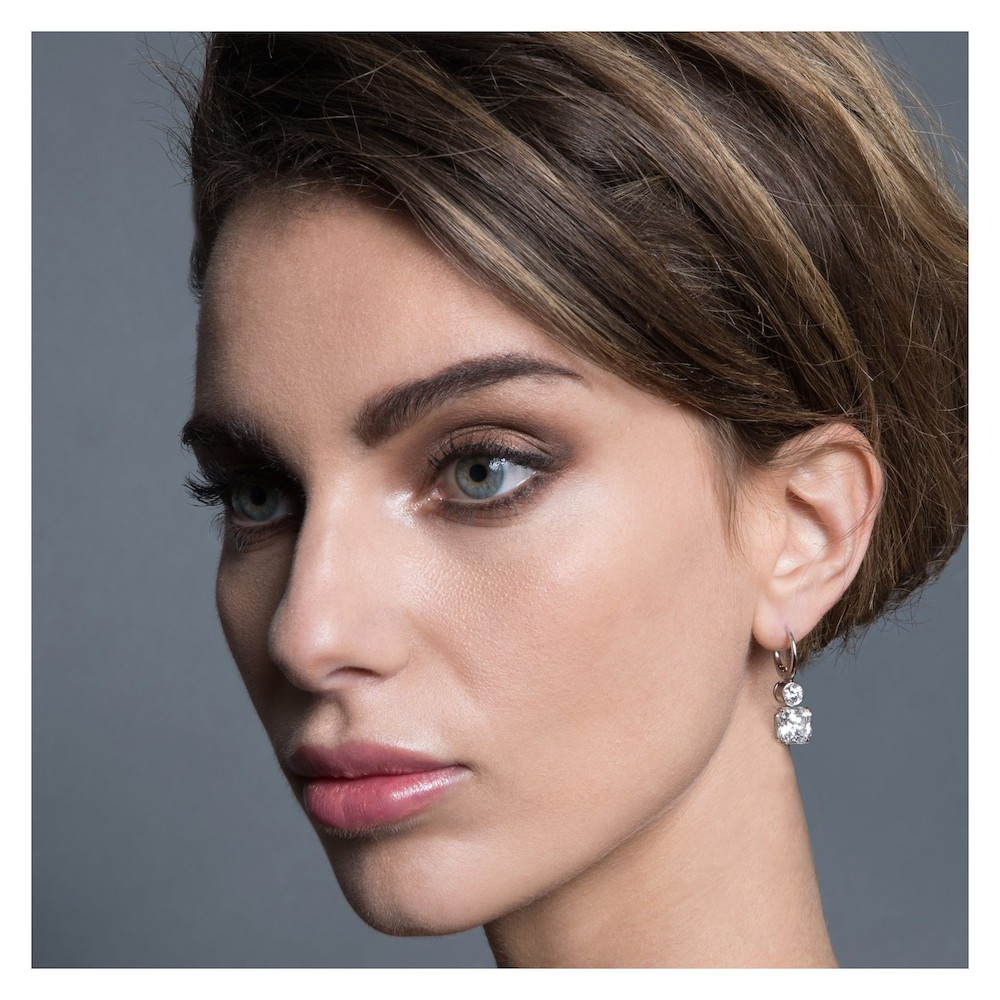 Tiffany Lucida Diamond and Platinum Earrings