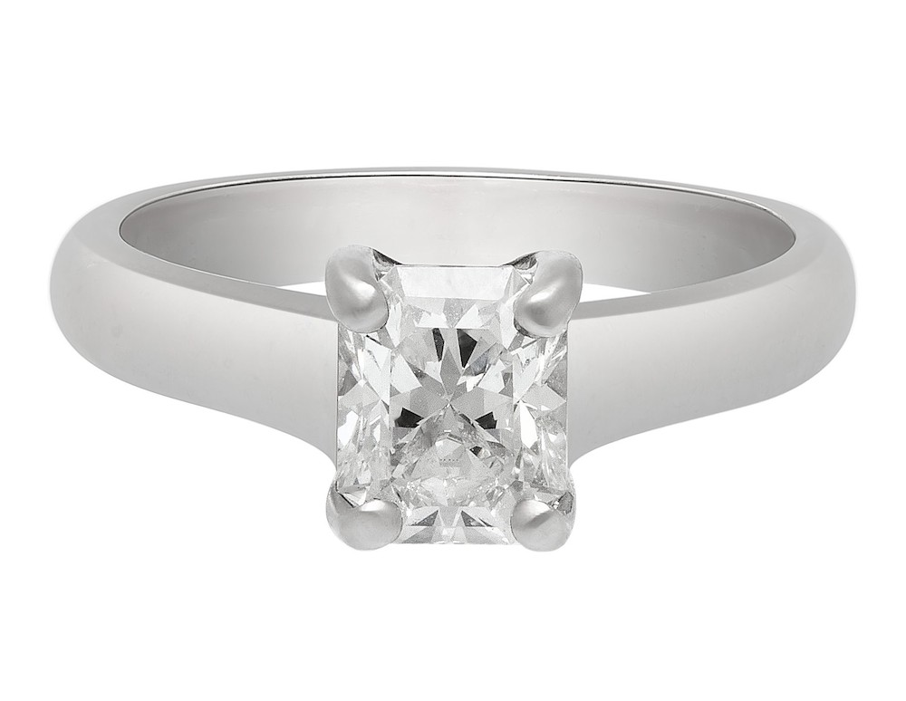 Tiffany Lucida Diamond and Platinum Engagement Ring