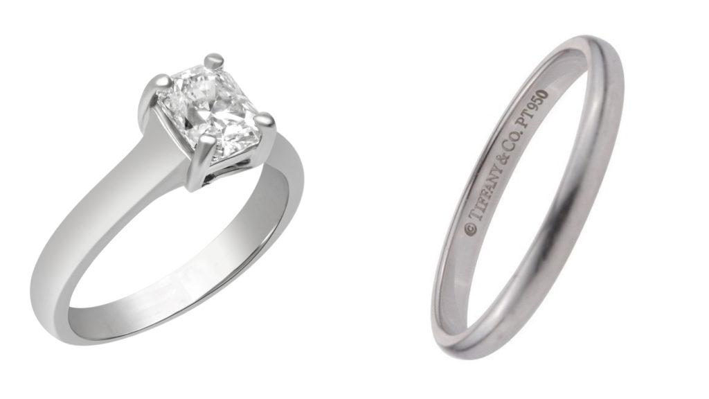 Tiffany Lucida Engagement and Wedding Band Set