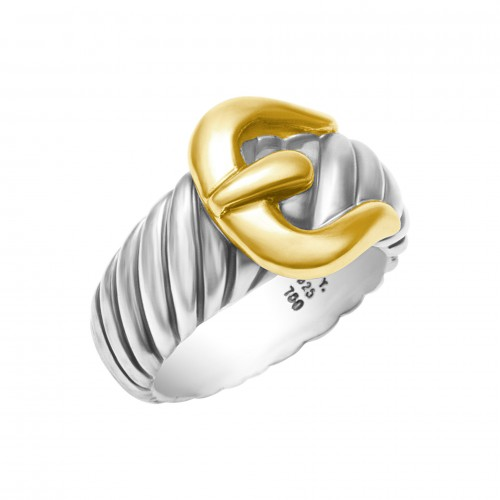 David Yurman Buckle Ring with the cable motif