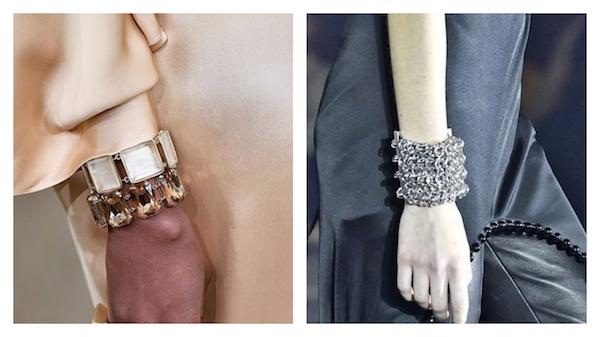 Jewelry Trend for Fall/Winter 2017: Oversized Bracelets (pics: Ralph Lauren & Alexander Wang)