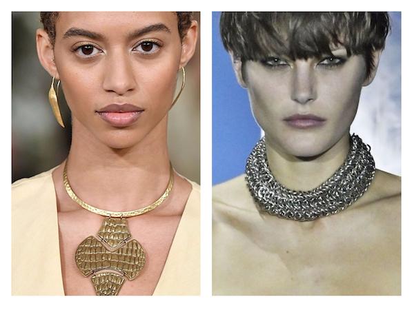 Jewelry Trend for Fall/Winter 2017: Statement Necklaces (pics: Ralph Lauren & Alexandar Wang)