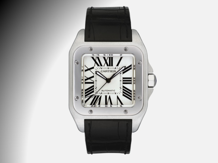 Square Watches for Men: Cartier Santos