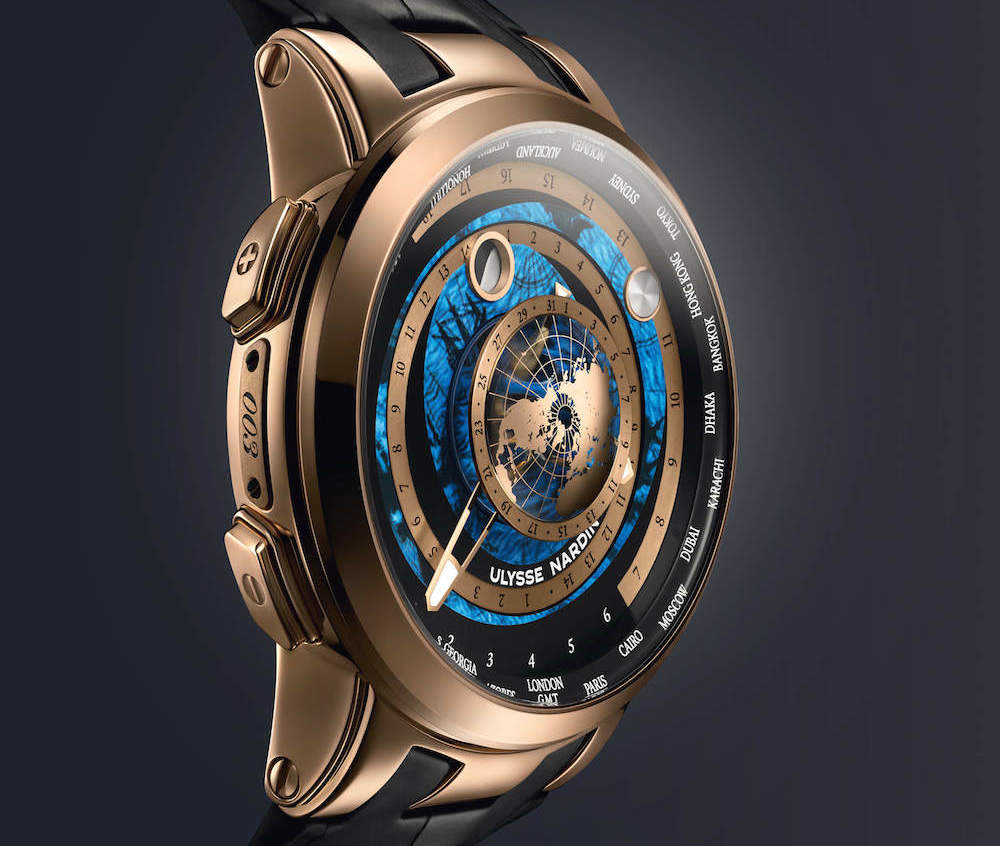 Ulysse Nardin Executive Moonstruck Worldtimer in pink gold