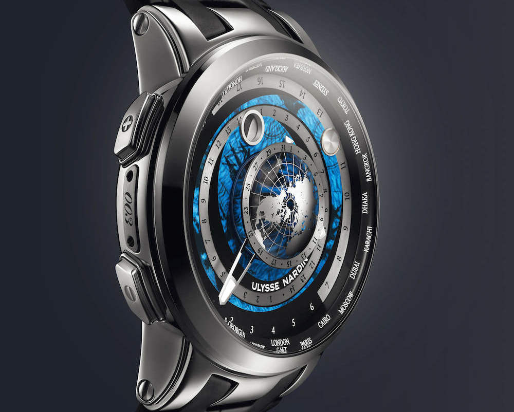 Ulysse Nardin Executive Moonstruck Worldtimer in platinum