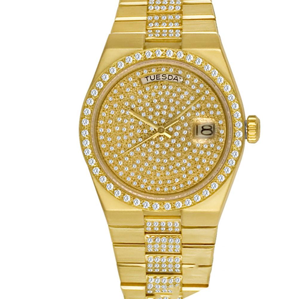 Rolex Oysterquartz Day-Date President ref. 19018 with custom diamonds