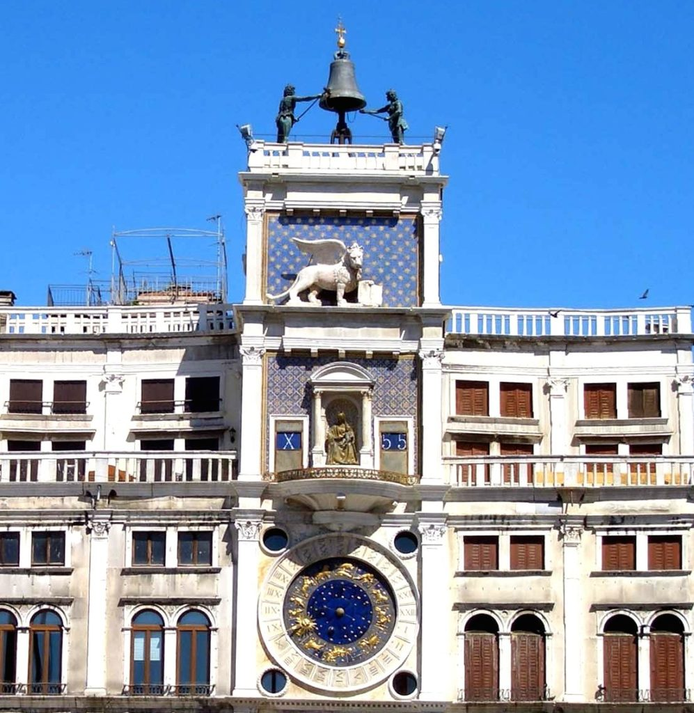 Torre dell'Orologio in Venice, Italy, the inspiration for the Ulysse Nardin Hourstriker San Marco