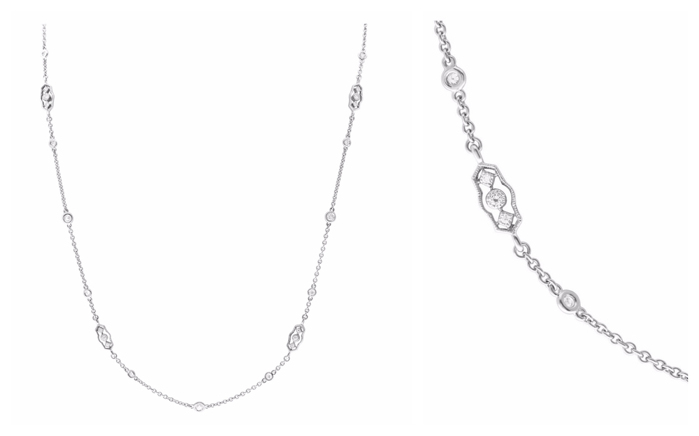 Vintage-Inspired Diamonds by the Yard Necklace
