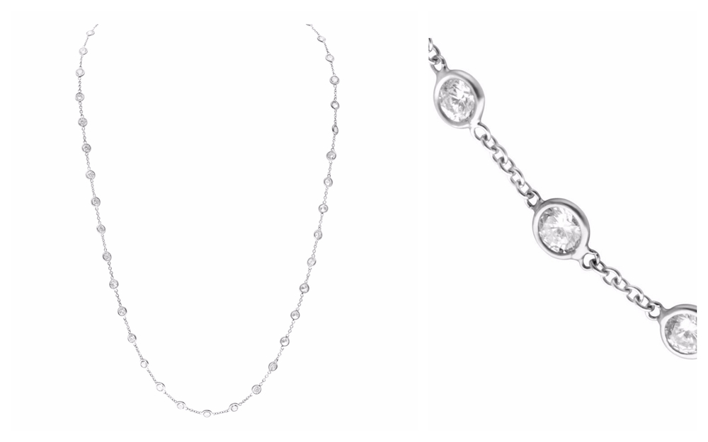 Diamonds by the Yard Necklace with 11.88 carats