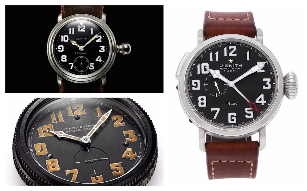 Modern versions of vintage watches