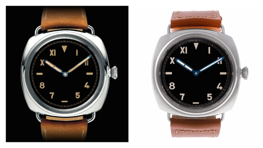 Modern Versions of Vintage Watches: The original Panerai Radiomir prototype from 1936 vs. the reissue Panerai Radiomir 1936 PAM00249
