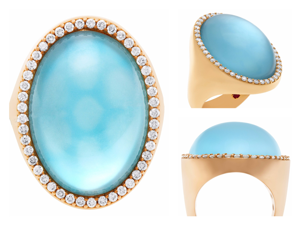 Blue Topaz Roberto Coin Cocktail Ring