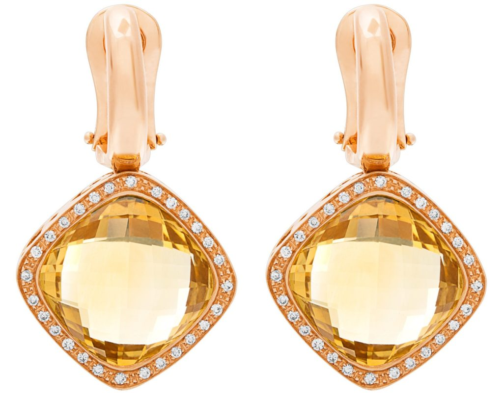 Citrine and Diamond Roberto Coin Cocktail Earrings