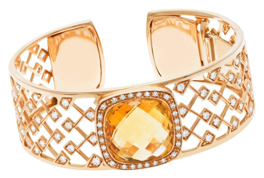 Citrine and Diamond Roberto Coin bangle
