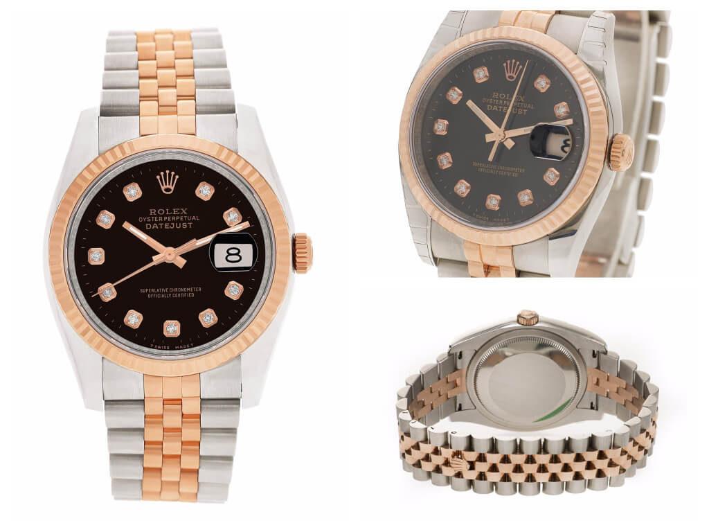 Two-Tone Diamond Rolex Datejust ref. 116231