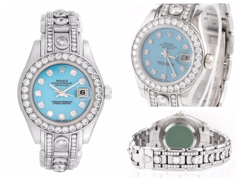 Diamond Rolex Pearlmaster ref. 69299